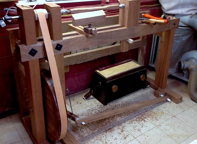 treadle lathe hand tool school
