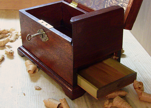 Tea Caddy secret compartment