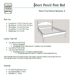 Low Post Bed Parts List Icon