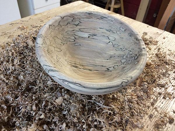 tradle lathe turned bowl