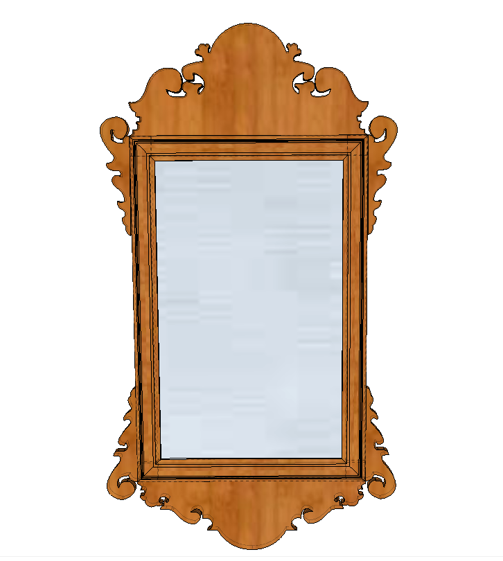 wall mirror model